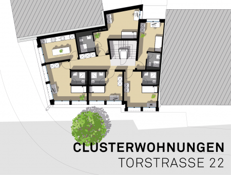 Clusterwohnung der Vivacon AG an der Torstrasse 22 am Platztor in St. Gallen